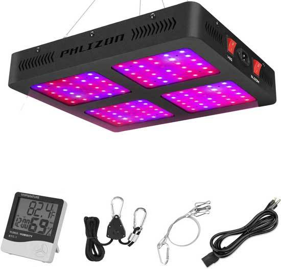 Phlizon 1200W Double Switch Series Plant LED Grow Light for Indoor Plants