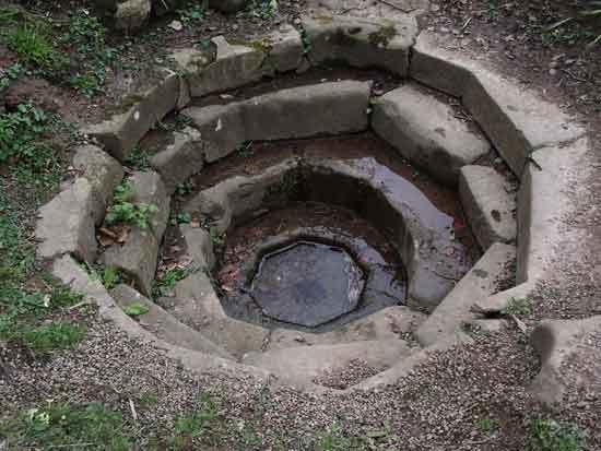 Octagonal Roman cistern
