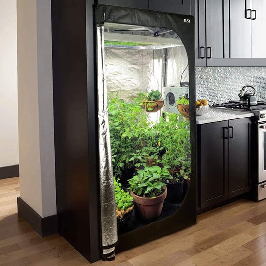 Best Grow Tent Best At Keeping Light In TUSY 48 x 48 x 80 inch Mylar Hydroponic Grow Tent 2