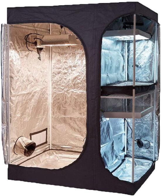 Best Grow Tent Best For Compartmentalization TopoGrow 2 in 1 Indoor Grow Tent