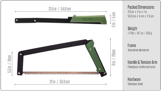 AGAWA Canyon 21 Inch BOREAL21 Folding Bow Saw Best Bow Saw 2