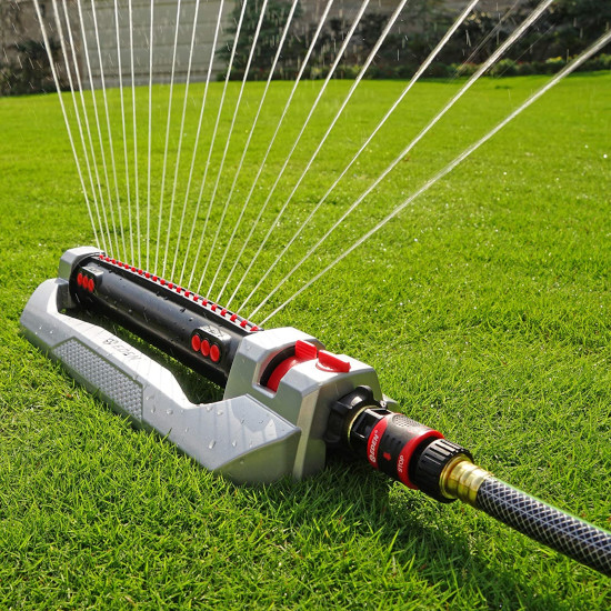Eden 94116 3 Way Adjustments Metal Engine Oscillating Lawn Sprinkler Best Oscillating Lawn Sprinkler 2