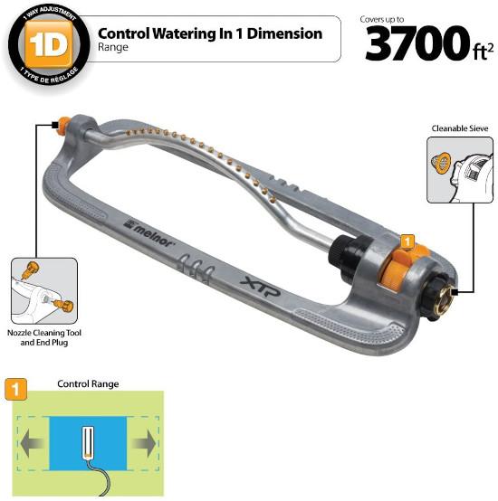 Melnor XT Flow Control Metal Turbo Oscillating Lawn Sprinkler Best Oscillating Lawn Sprinkler