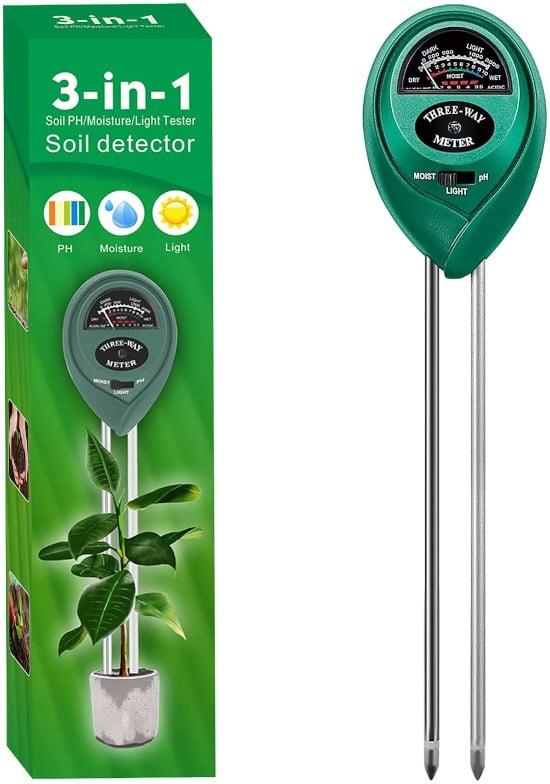 Alkey 3 in 1 Soil pH Indoor Outdoor Tester Best soil pH Tester Listing