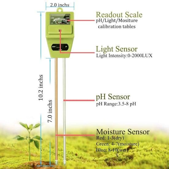 Swiser Lightweight 3 in 1 Soil pH Tester Best soil pH Tester Listing 2
