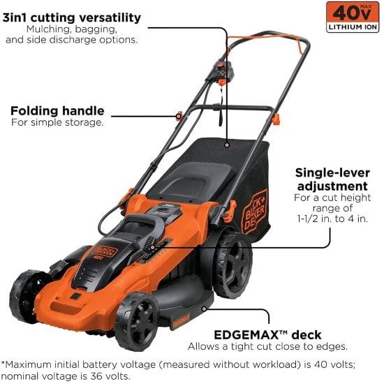 BLACK DECKER 40V MAX 20 Inch Cordless Commercial Lawn Mower Best Commercial Lawn Mower 2