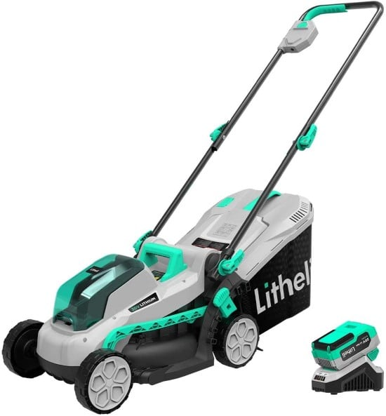 Litheli 13 Inch Cordless 20V Commercial Lawn Mower Best Commercial Lawn Mower